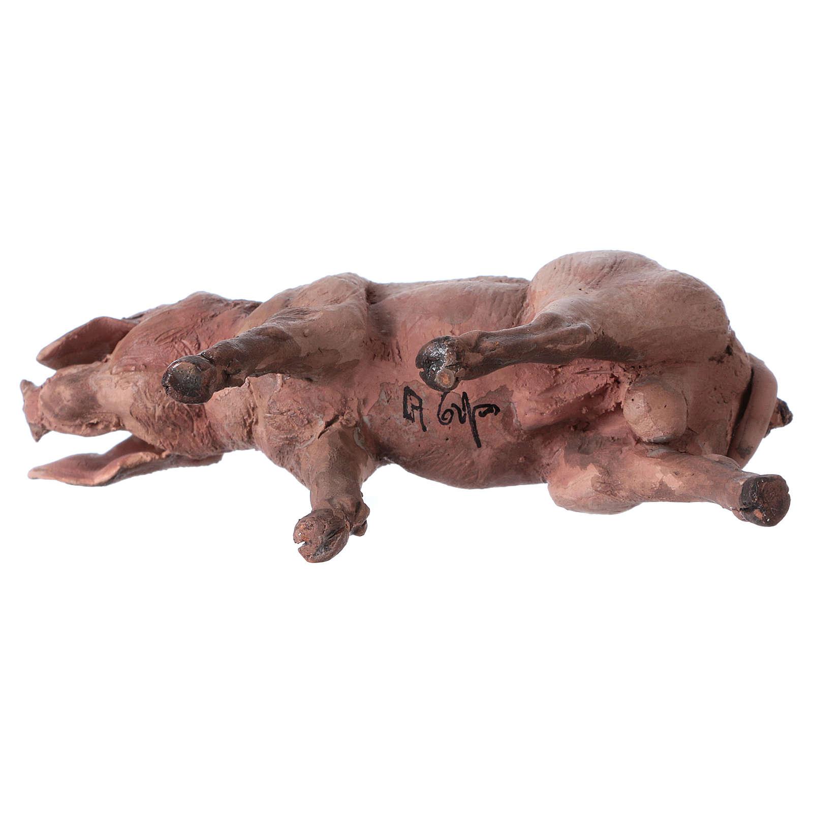 Porc 18cm crèche Angela Tripi 4