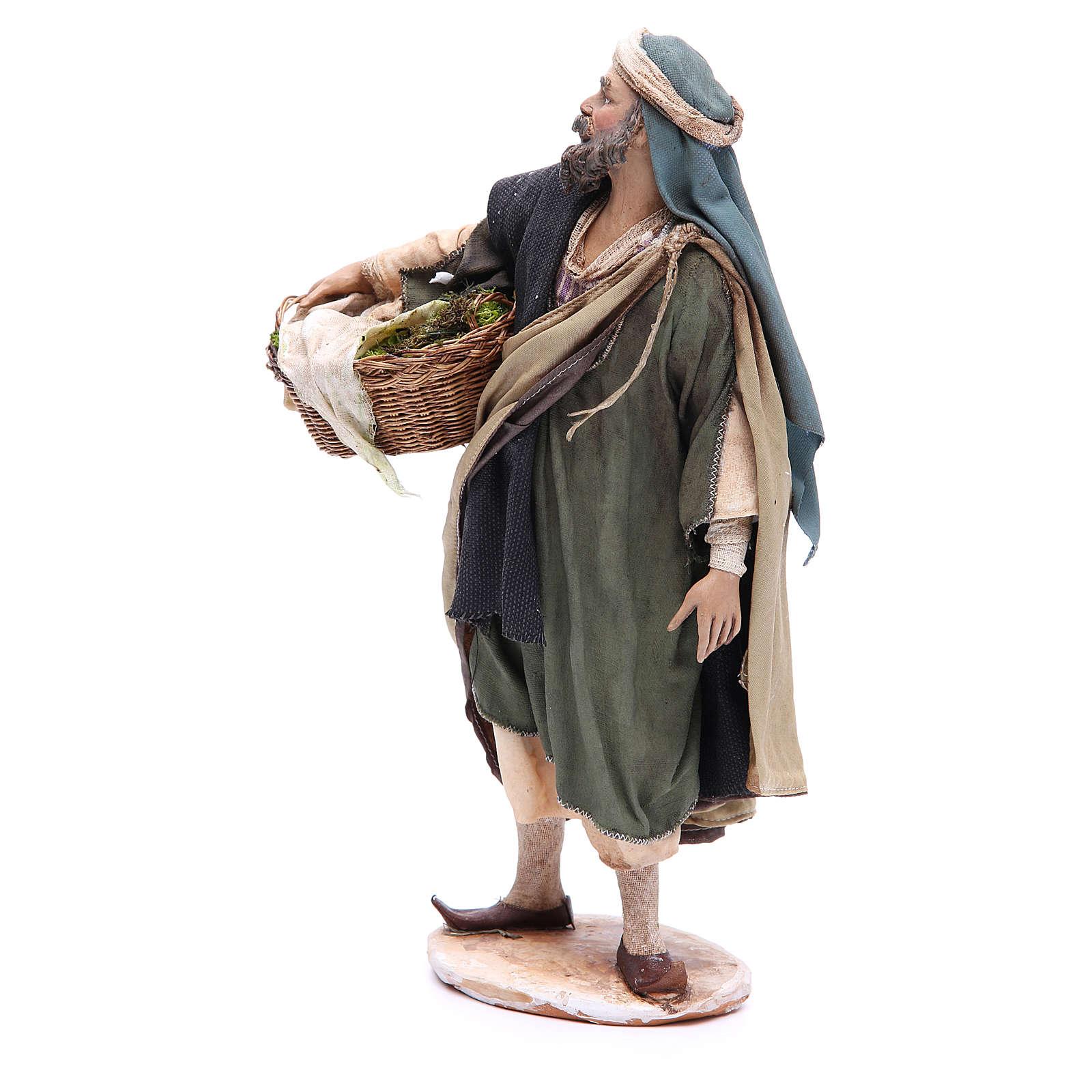 Shepherd with moss 30cm Angela Tripi 4
