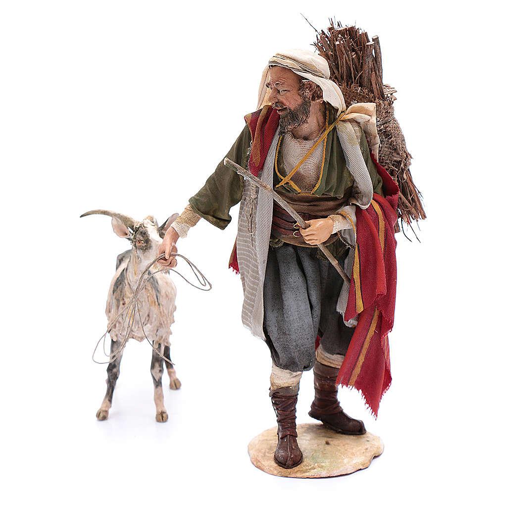 Pastor con cabra 30 cm Angela Tripi 4