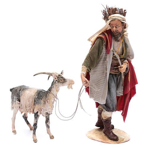 Pastor con cabra 30 cm Angela Tripi 1