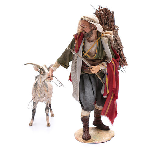 Pastor con cabra 30 cm Angela Tripi 2