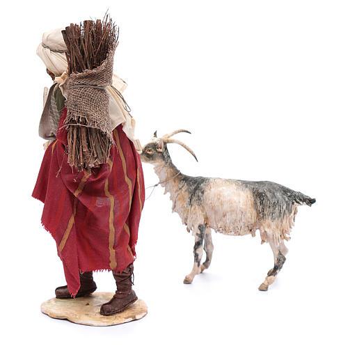 Pastor con cabra 30 cm Angela Tripi 3