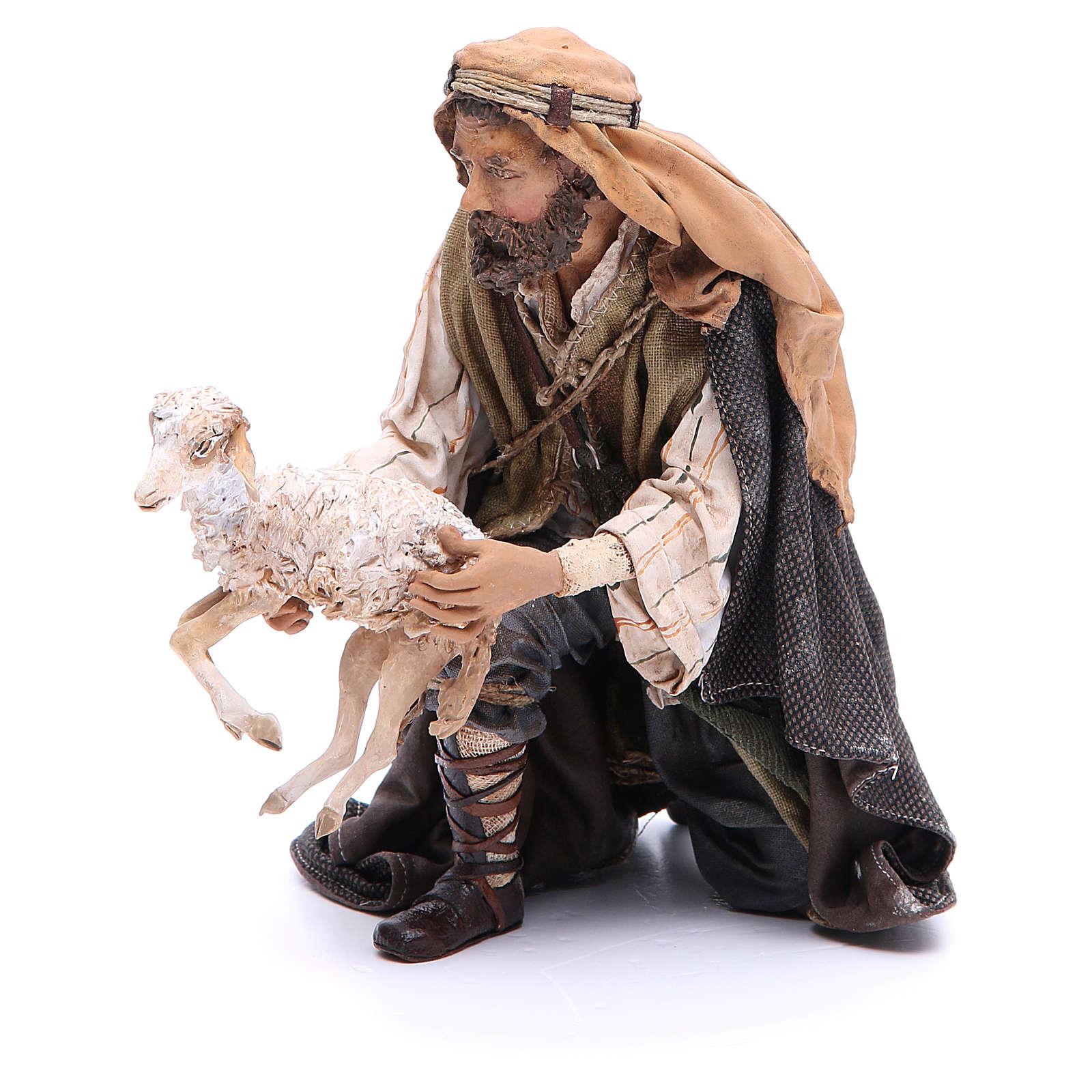 Pastor con cabra Belén 30 cm Angela Tripi 4