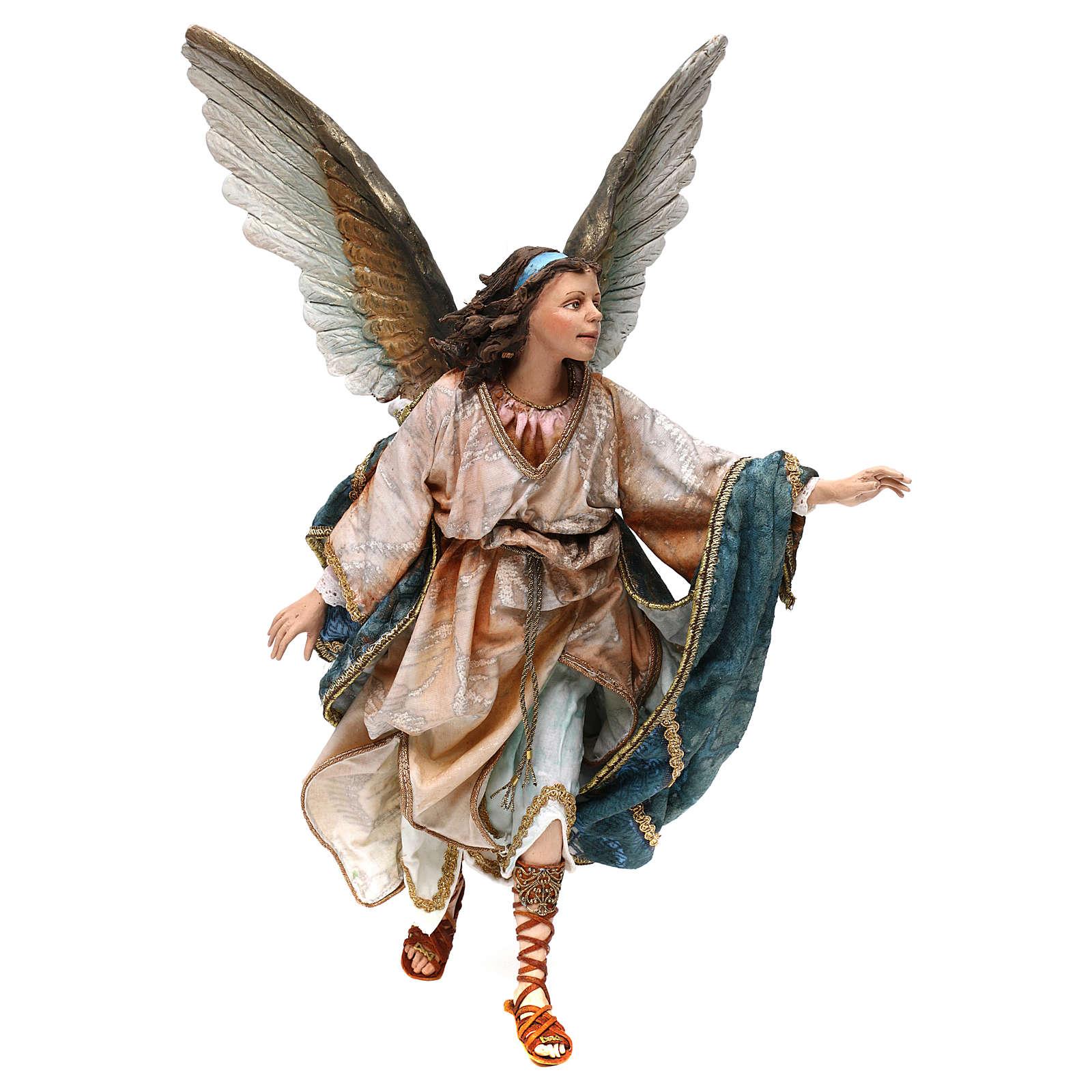 Anjo 30 cm presépio terracota Angela Tripi 4