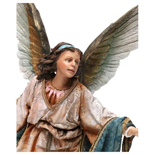 Anjo 30 cm presépio terracota Angela Tripi 2