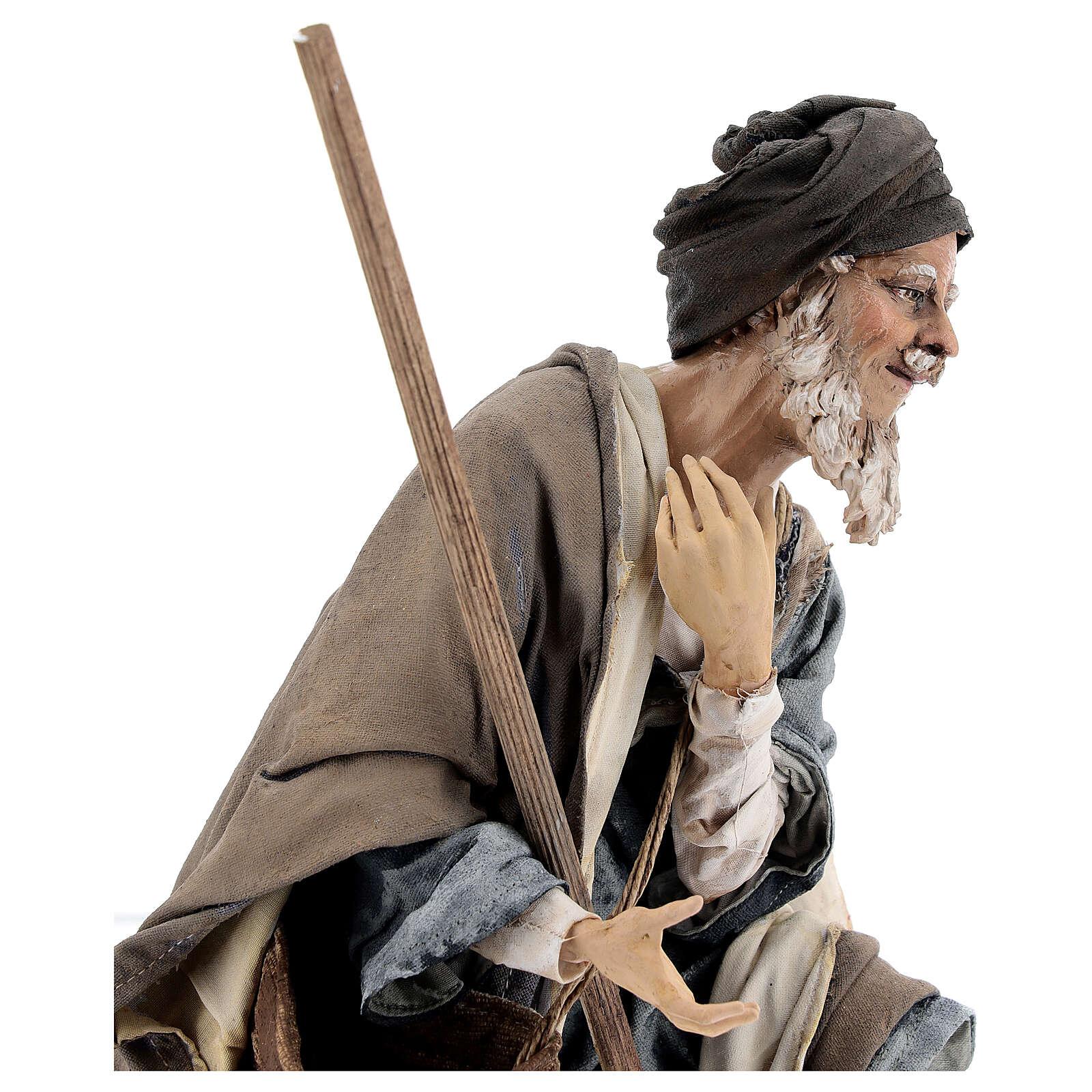 Pastore adorante 30 cm Presepe Angela Tripi 4