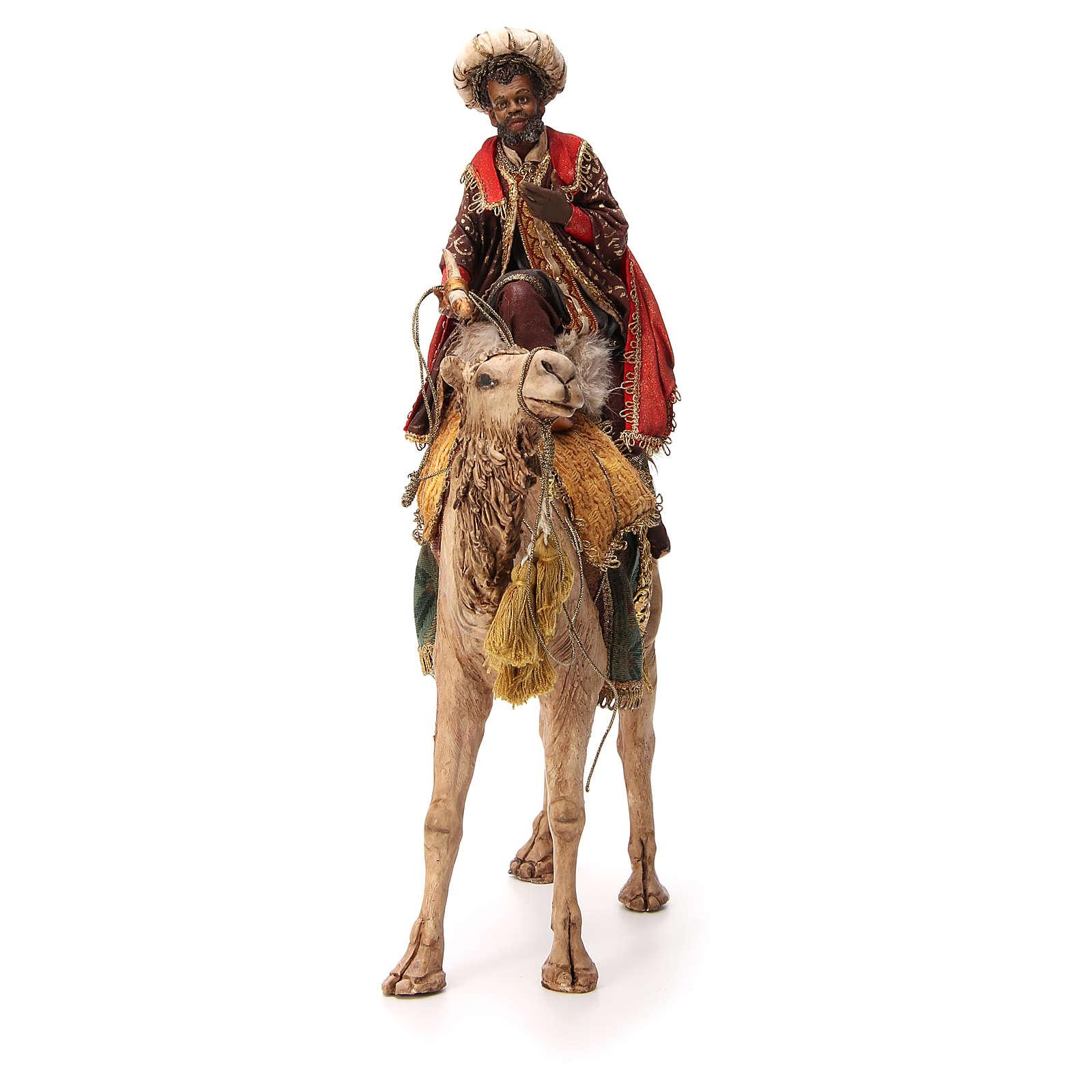 Re Magio moro corno turbante su cammello 18 cm Tripi 4