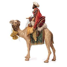 Re Magio moro corno turbante su cammello 18 cm Tripi s2