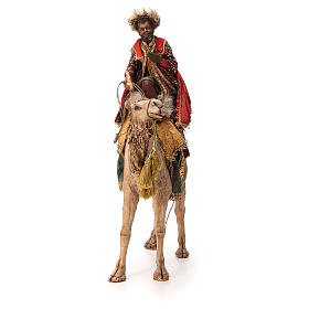 Re Magio moro corno turbante su cammello 18 cm Tripi s4
