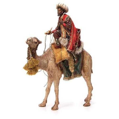 Re Magio moro corno turbante su cammello 18 cm Tripi 1