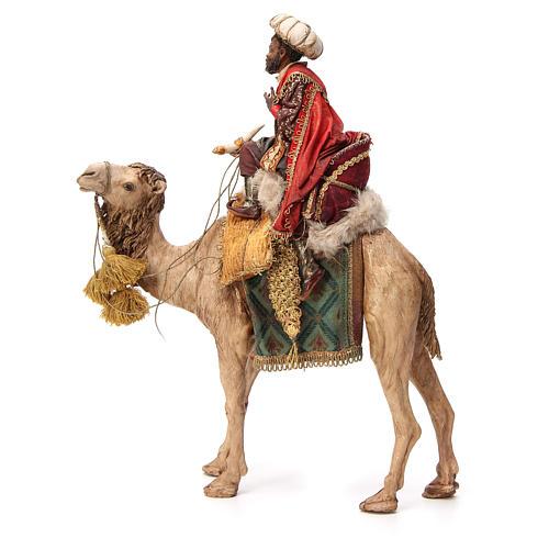 Re Magio moro corno turbante su cammello 18 cm Tripi 2