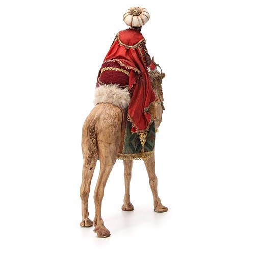 Re Magio moro corno turbante su cammello 18 cm Tripi 3