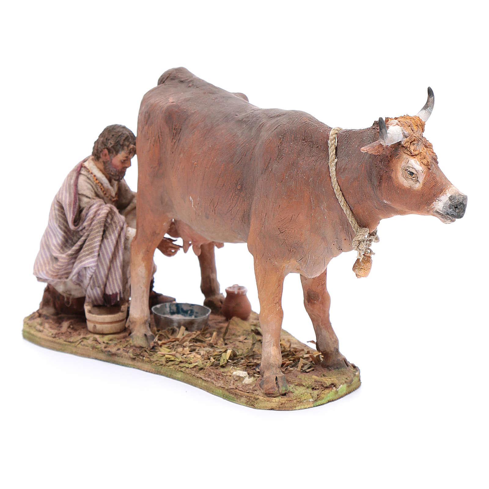 Pastore che munge la mucca cm 13 Angela Tripi 4