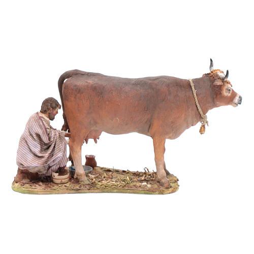 Pastore che munge la mucca cm 13 Angela Tripi 1