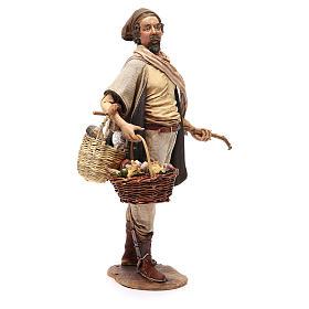Farmer with basket of mushrooms 30cm Angela Tripi s4