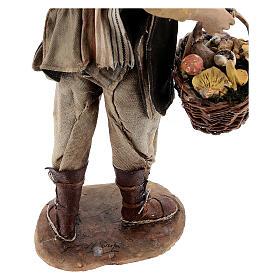 Farmer with basket of mushrooms 30cm Angela Tripi s8
