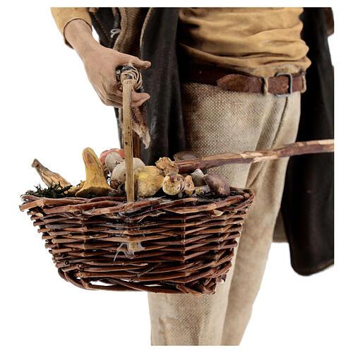 Farmer with basket of mushrooms 30cm Angela Tripi 6