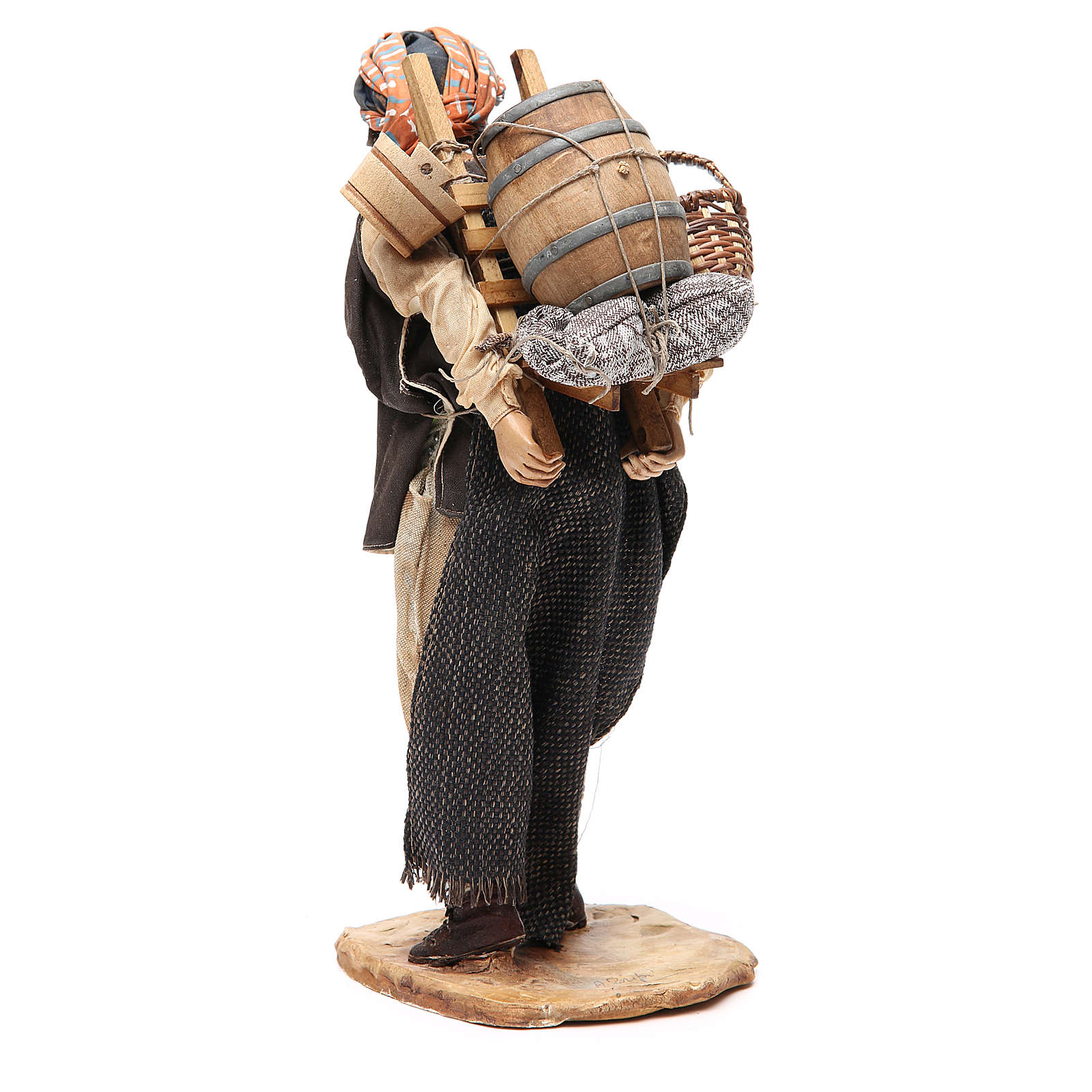 Farmer with cart 30cm Angela Tripi Nativity Scene 4
