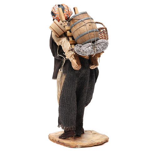 Farmer with cart 30cm Angela Tripi Nativity Scene 3