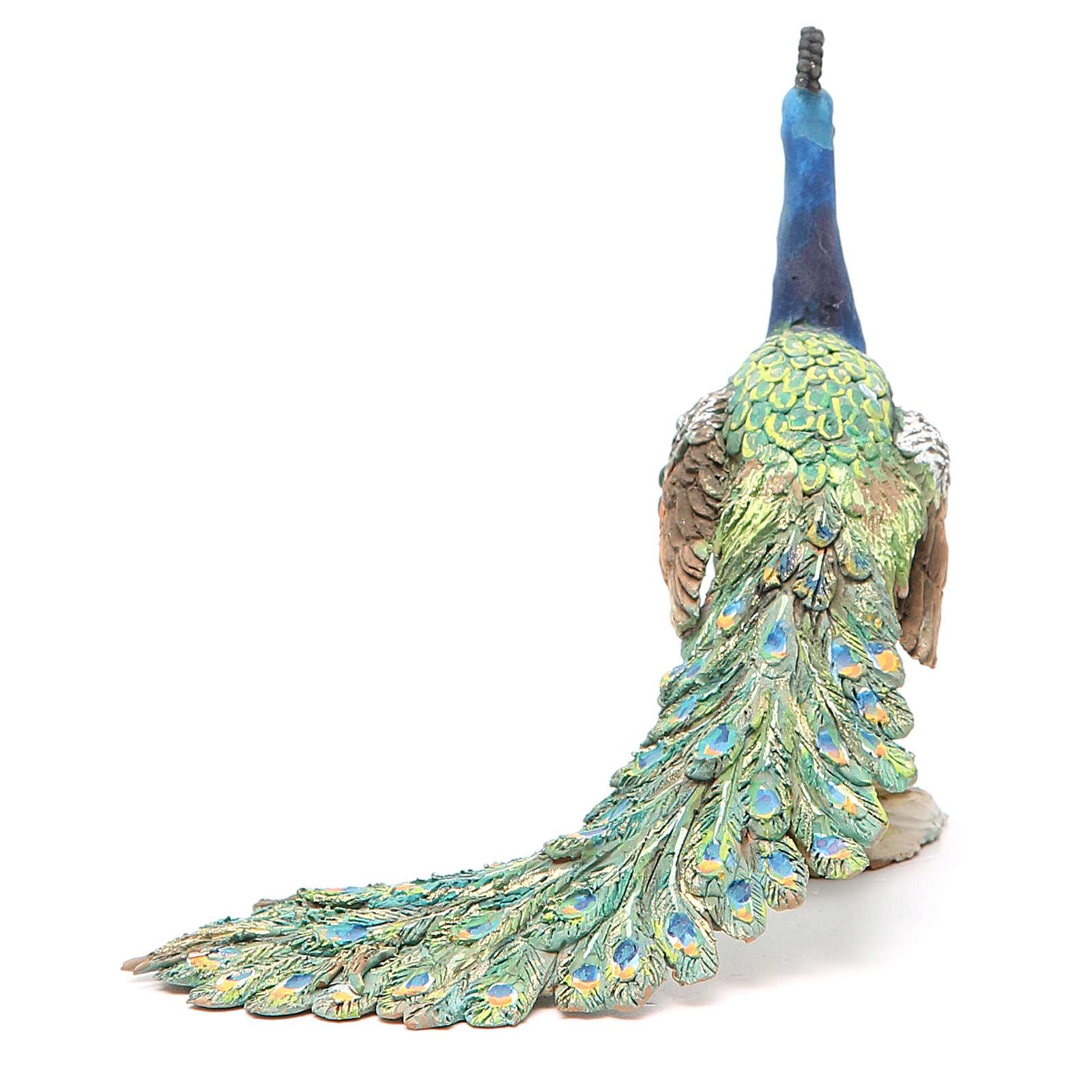 Pavone 30 cm Presepe Angela Tripi 4
