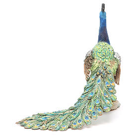 Pavone 30 cm Presepe Angela Tripi s3