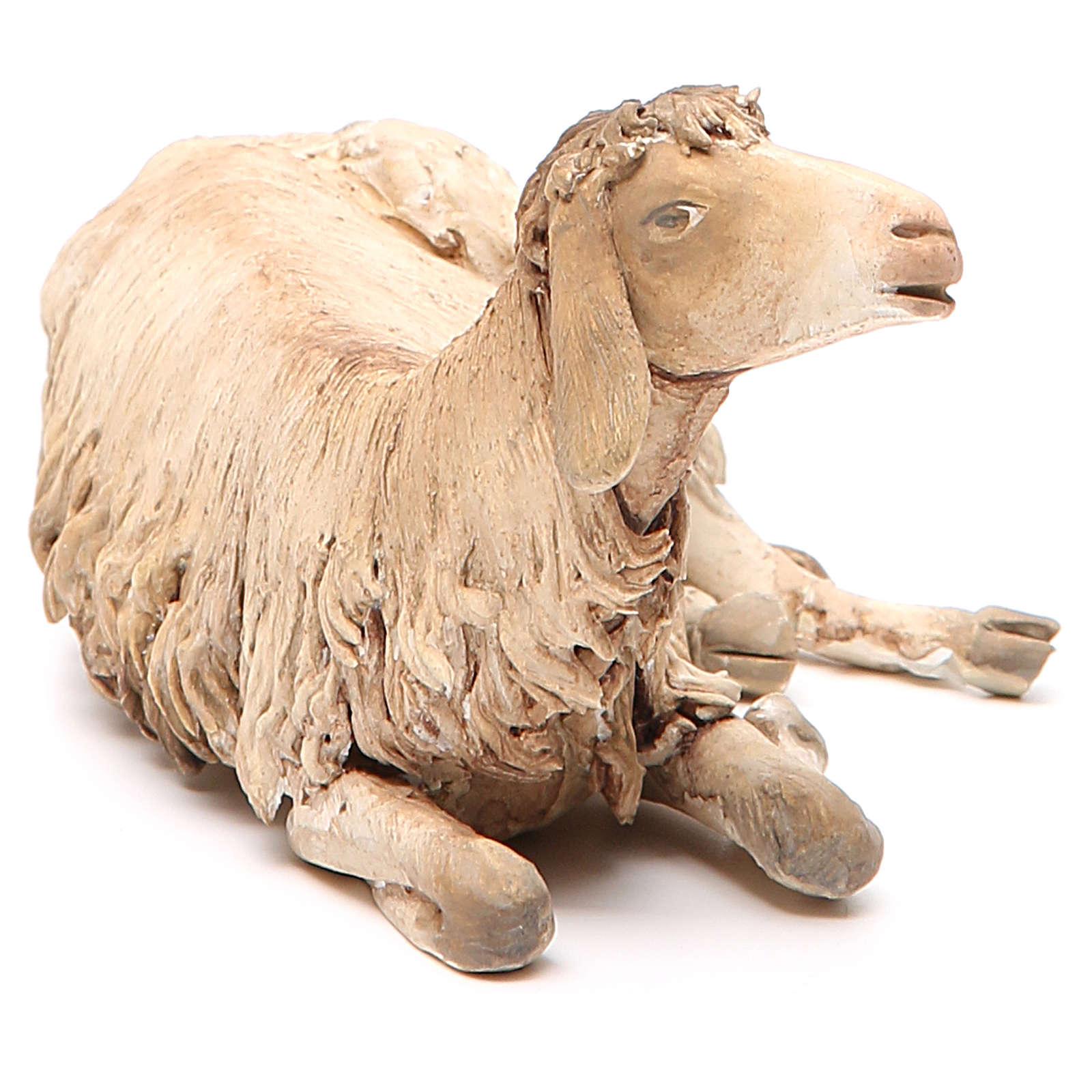 Mouton allongé 30 cm crèche Angela Tripi 4
