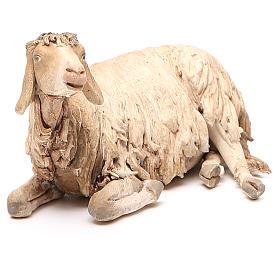 Mouton allongé 30 cm crèche Angela Tripi s1