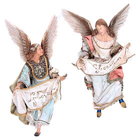 Presepe Angela Tripi: Angeli Gloria che si guardano 30 cm Angela Tripi