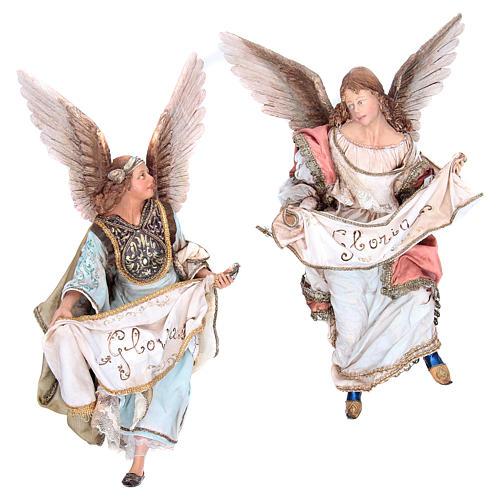 Angeli Gloria che si guardano 30 cm Angela Tripi 1
