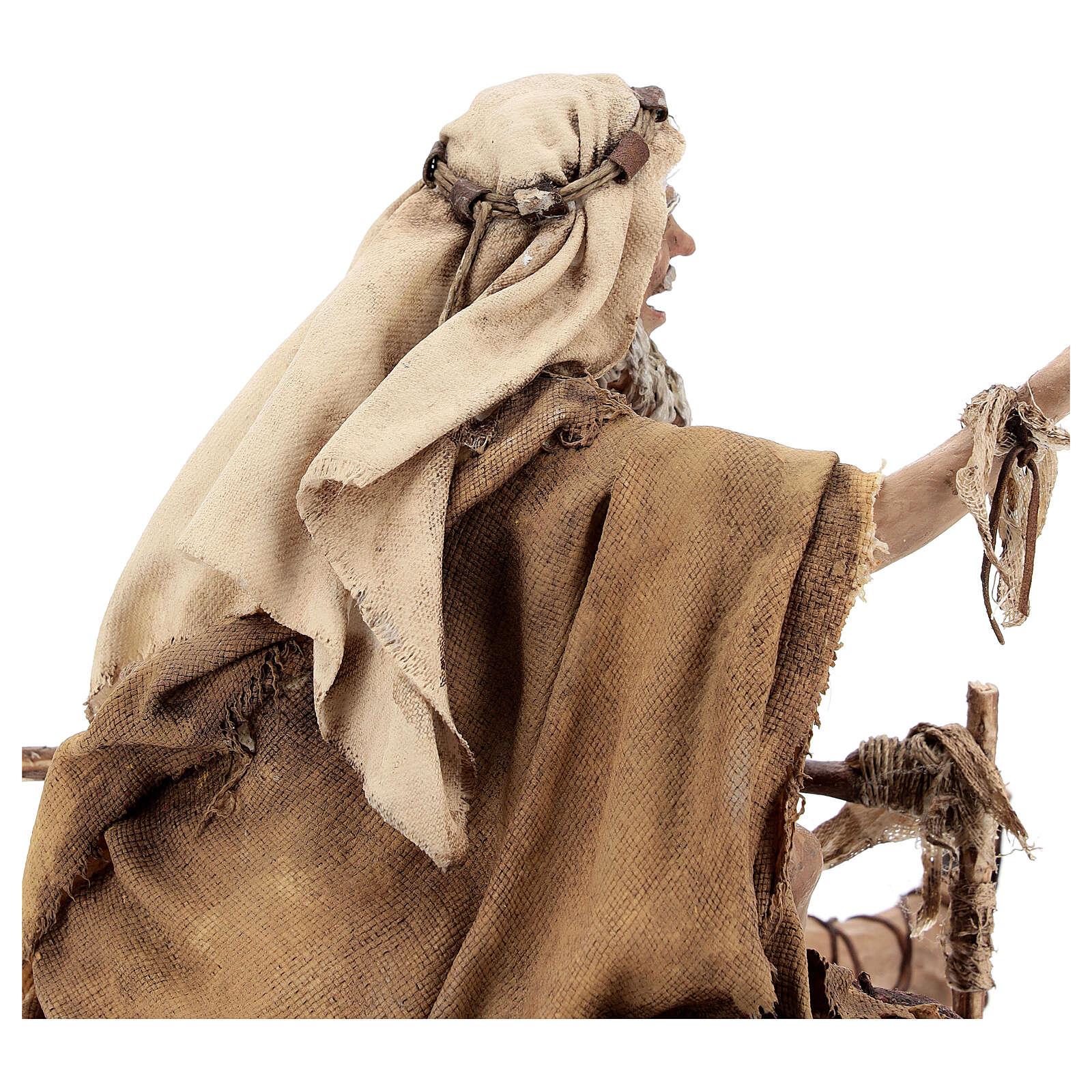 Mendiant estropié 30 cm crèche Angela Tripi 4