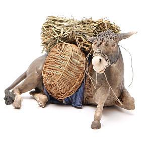 Laying donkey 30cm, Angela Tripi Nativity figurine s2