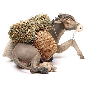 Laying donkey 30cm, Angela Tripi Nativity figurine s4