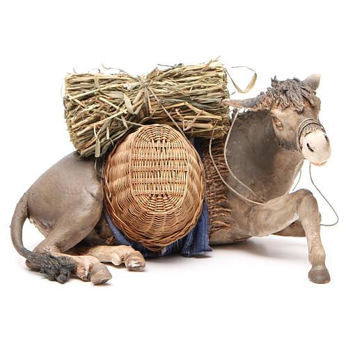 Laying donkey 30cm, Angela Tripi Nativity figurine 1