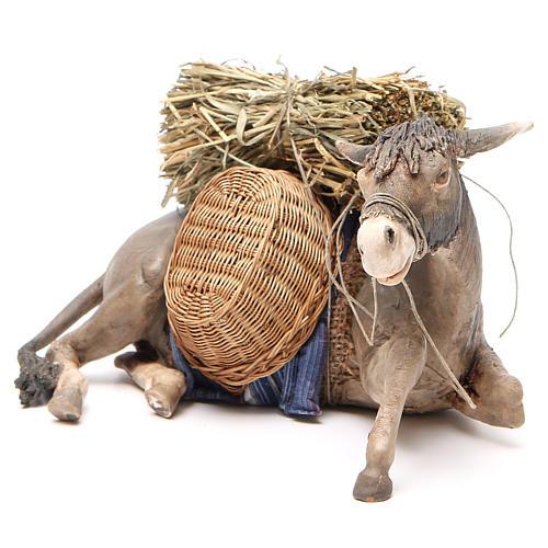 Laying donkey 30cm, Angela Tripi Nativity figurine 2