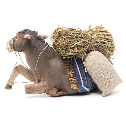 Laying donkey 30cm, Angela Tripi Nativity figurine 3