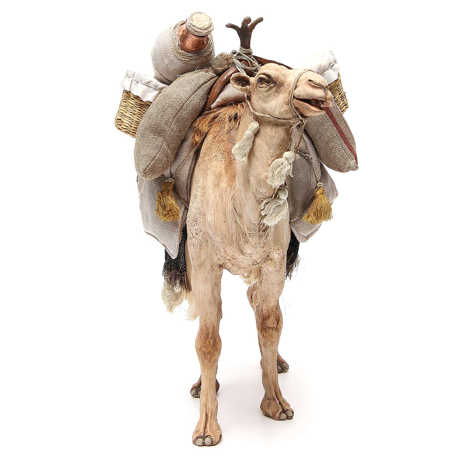 Chameau avec sacs crèche Angela Tripi 30 cm 4