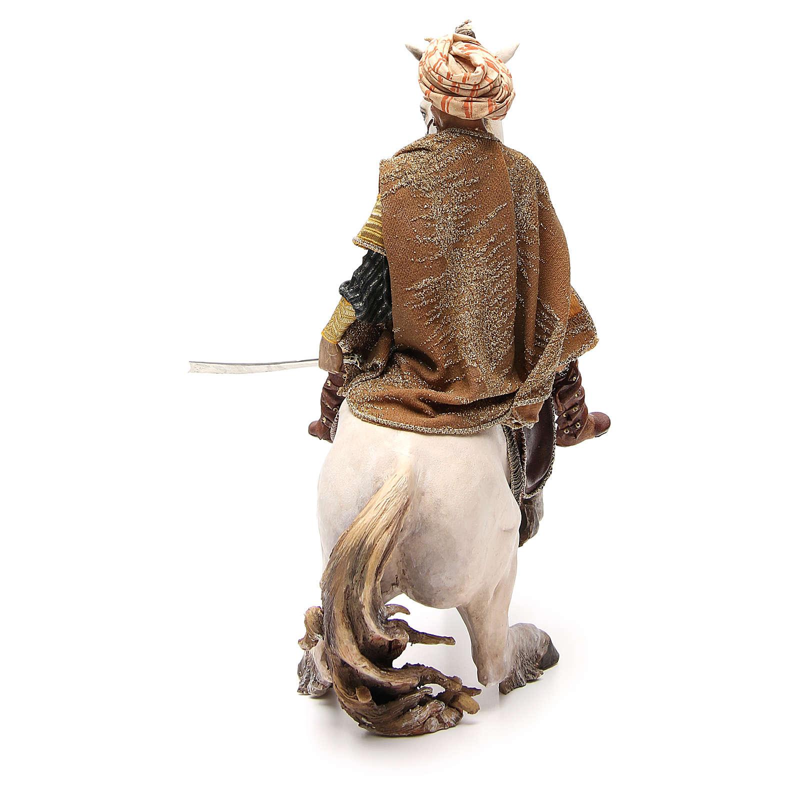 Cheval avec Roi crèche Angela Tripi 30 cm 4