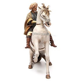 Cheval avec Roi crèche Angela Tripi 30 cm s4