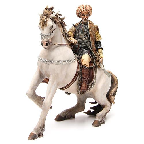Cheval avec Roi crèche Angela Tripi 30 cm 1