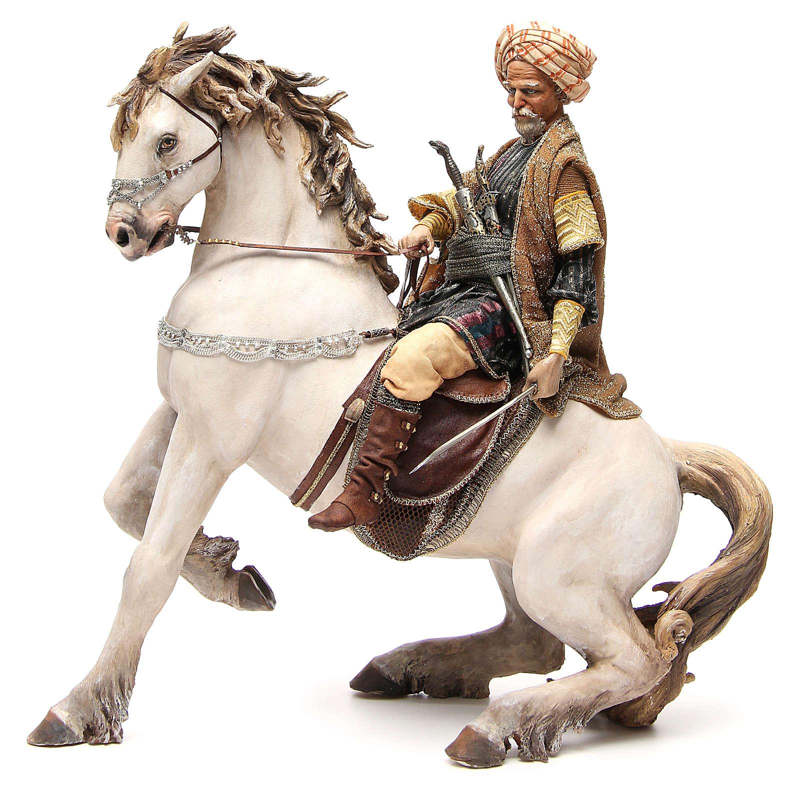 Cavallo con Re Presepe Angela Tripi 30 cm 4