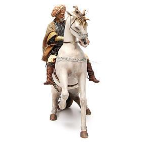 Cavallo con Re Presepe Angela Tripi 30 cm s4