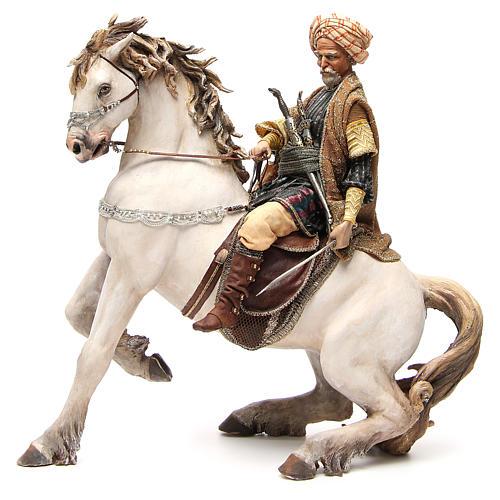 Cavallo con Re Presepe Angela Tripi 30 cm 2