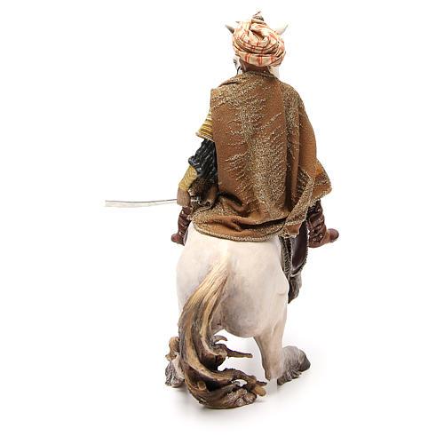 Cavallo con Re Presepe Angela Tripi 30 cm 3