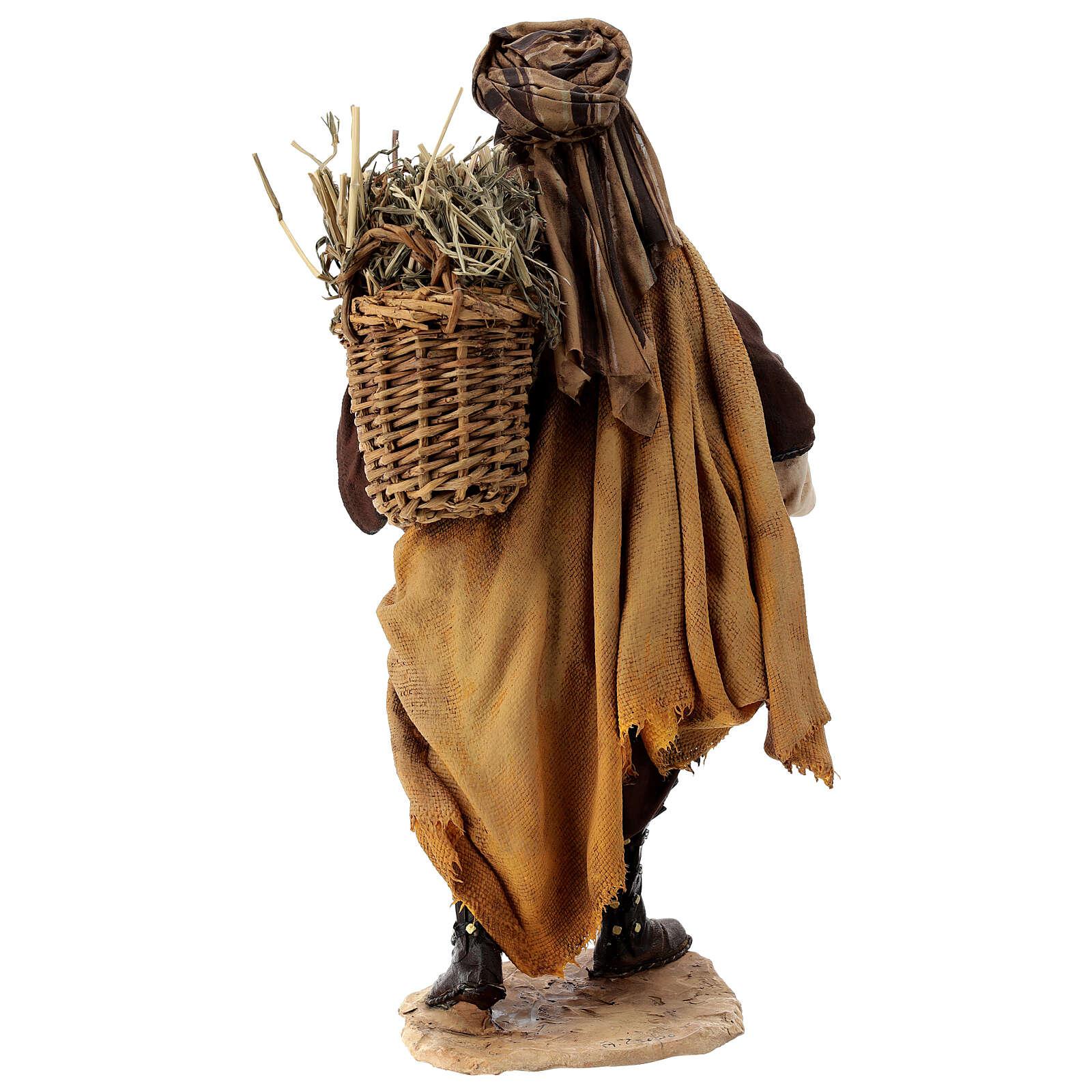 Mulatto con pecora Presepe Angela Tripi 30 cm 4