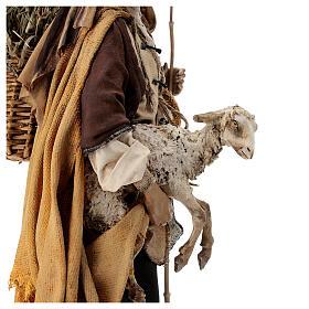 Mulatto con pecora Presepe Angela Tripi 30 cm s4