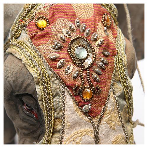 Éléphant avec Roi et serviteur crèche Angela Tripi 30 cm 7