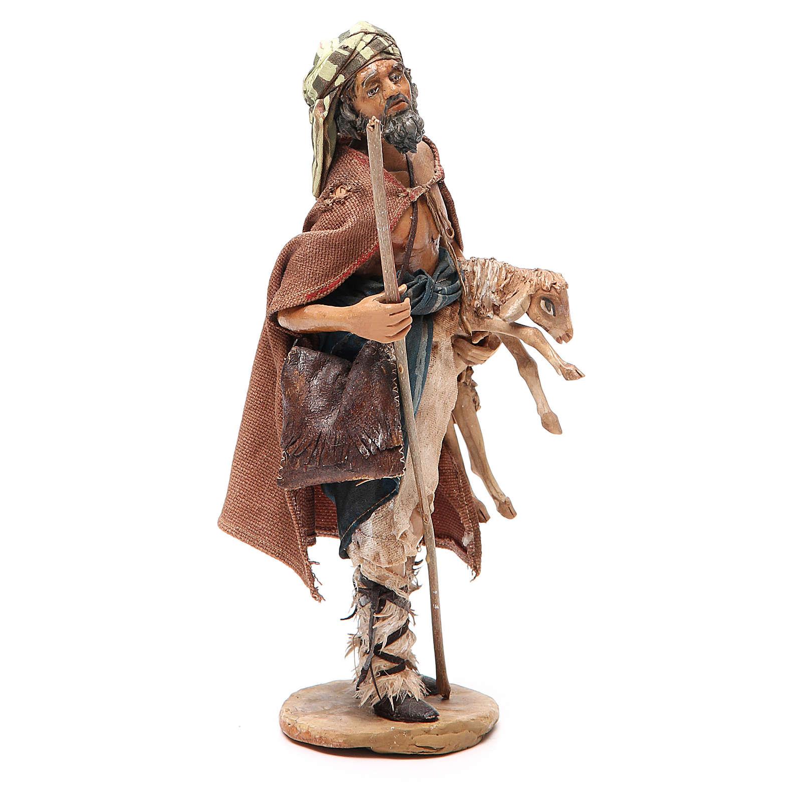 Voyageur avec mouton crèche Angela Tripi 18 cm 4