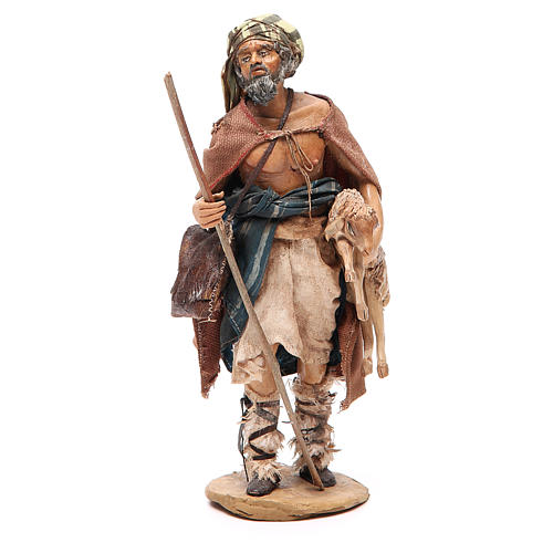Viandante con pecora Presepe Angela Tripi 18 cm 1
