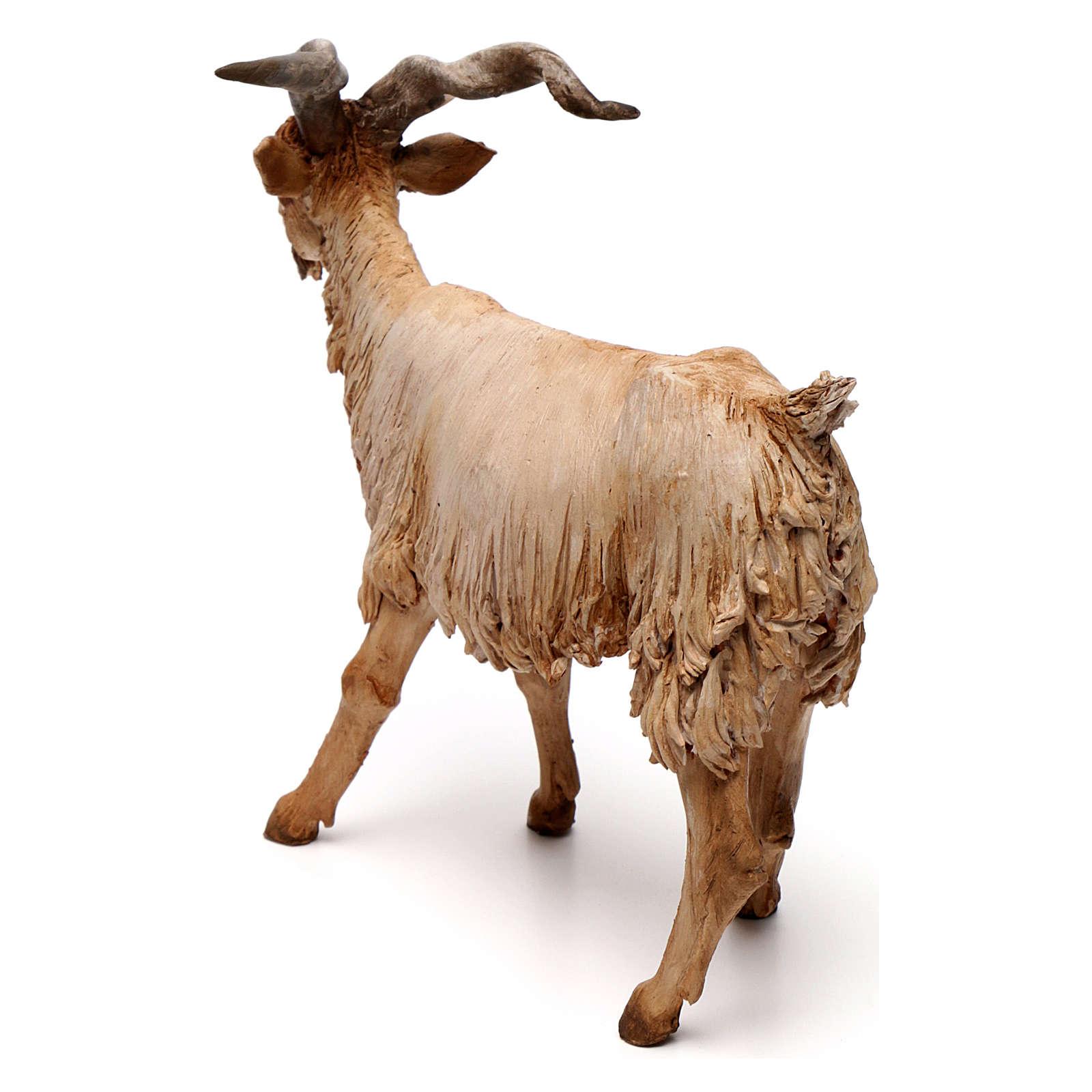 Chèvre 30 cm crèche Angela Tripi en terre cuite 4