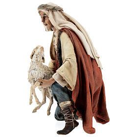 Berger à genoux avec mouton 30 cm Angela Tripi s3